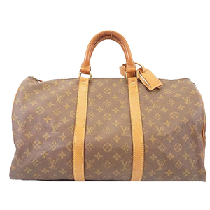 Auth Louis Vuitton Monogram Keepol 45 M41428 Men,Women,Unisex Boston Bag Brown