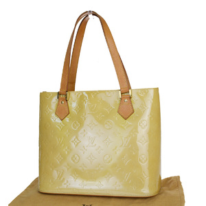 Louis Vuitton Monogram Vernis Houston M91121 Shoulder Bag Beige