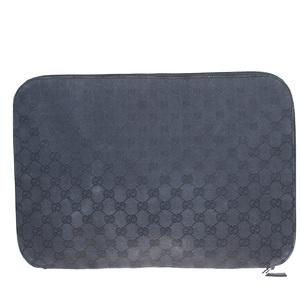 Gucci GG Canvas Leather,Canvas Clutch Bag Black