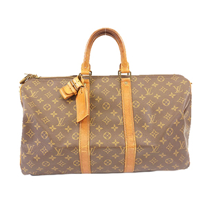 Auth Louis Vuitton Monogram Keepall Bandouliere 45 M41418 Boston Bag