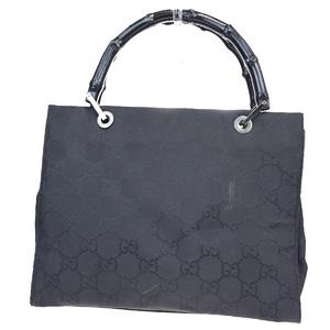 Gucci Bamboo Nylon,Bamboo Handbag Black