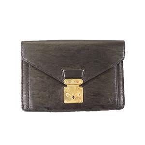 Auth Louis Vuitton Epi Pochette Sellier Dragonne M52762 Men's Clutch Bag Noir