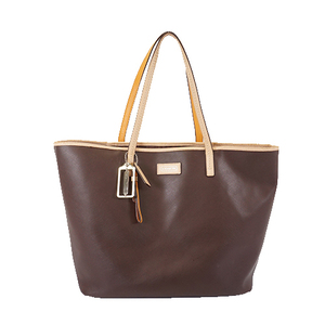 Auth Coach Tote Bag F24341 Leather Brown