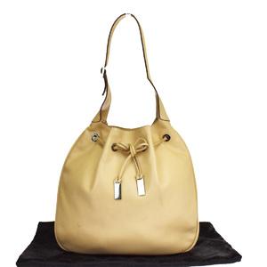 Gucci Leather Shoulder Bag Beige