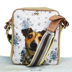 Anya Hindmarch Leather,Canvas Shoulder Bag Beige