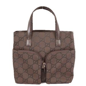 グッチ(Gucci) トートバッグ Tote bag 76479 レディース ナイロンキャンバス ハンドバッグ,トートバッグ ブラウン