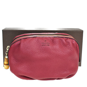 Gucci Bamboo Leather,Bamboo Pouch Bordeaux