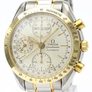 OMEGA Speedmaster Triple Date 18K Gold Steel Watch 3321.30