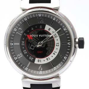 Louis Vuitton Tambour Automatic Stainless Steel Men's Sports Watch Q1D30
