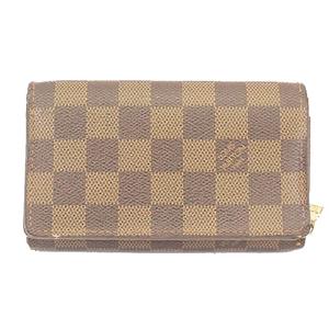 ルイヴィトン 二つ折り財布 ダミエ ポルトフォイユトレゾール N61736
