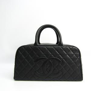 シャネル(Chanel) A20997 ミニボストン レディース キャビアスキン ハンドバッグ ブラック