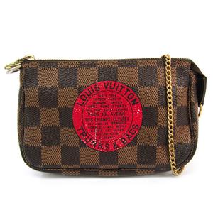 ルイ・ヴィトン(Louis Vuitton) ダミエ ミニ・ポシェット・アクセソワールT&B N58011 レディース ハンドバッグ エベヌ