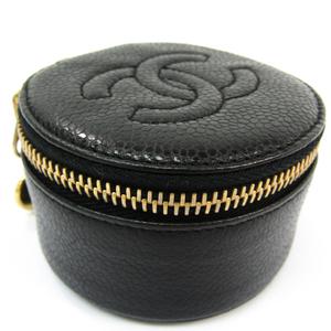 シャネル(Chanel) アクセサリーポーチ ジュエリーケース ブラック キャビアスキン