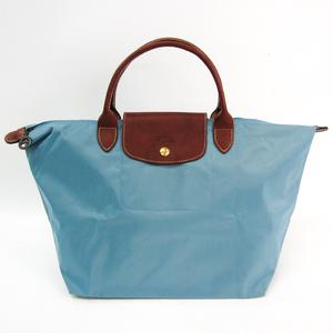 ロンシャン(Longchamp) ル・プリアージュ M ARCTIC 1623 089 P05 レディース ナイロン,レザー ハンドバッグ ブルー,ブラウン