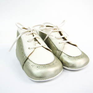 Hermes Baby Shoes Baby Unisex Shoes (Silver,White) 18
