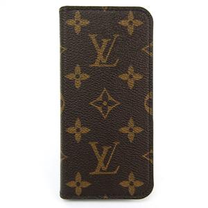 ルイ・ヴィトン(Louis Vuitton) モノグラム iPhone7 iPhone8 フォリオ M61905 モノグラム 手帳型/カード入れ付きケース iPhone 7 対応 マロン