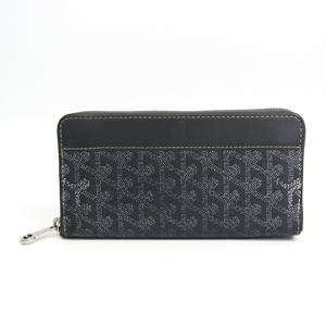 ゴヤール(Goyard) マティニヨン ユニセックス レザー,コーティングキャンバス 長財布(二つ折り) グレー