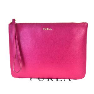 フルラ(Furla) レザー クラッチバッグ ピンク