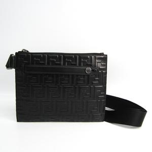 フェンディ(Fendi) FFロゴ 7VA437 ユニセックス レザー ショルダーバッグ ブラック