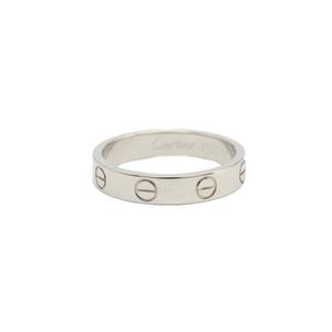 カルティエ(Cartier) ミニラブリング K18ホワイトゴールド(K18WG) 指輪・リング