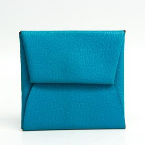エルメス(Hermes) バスティア シェーブルミゾール 小銭入れ・コインケース ブルー