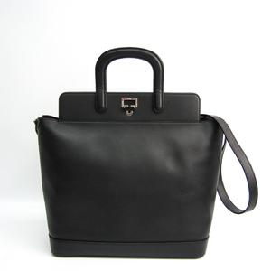 カルティエ(Cartier) ジャンヌ トゥーサン レディース レザー ハンドバッグ,ショルダーバッグ ブラック