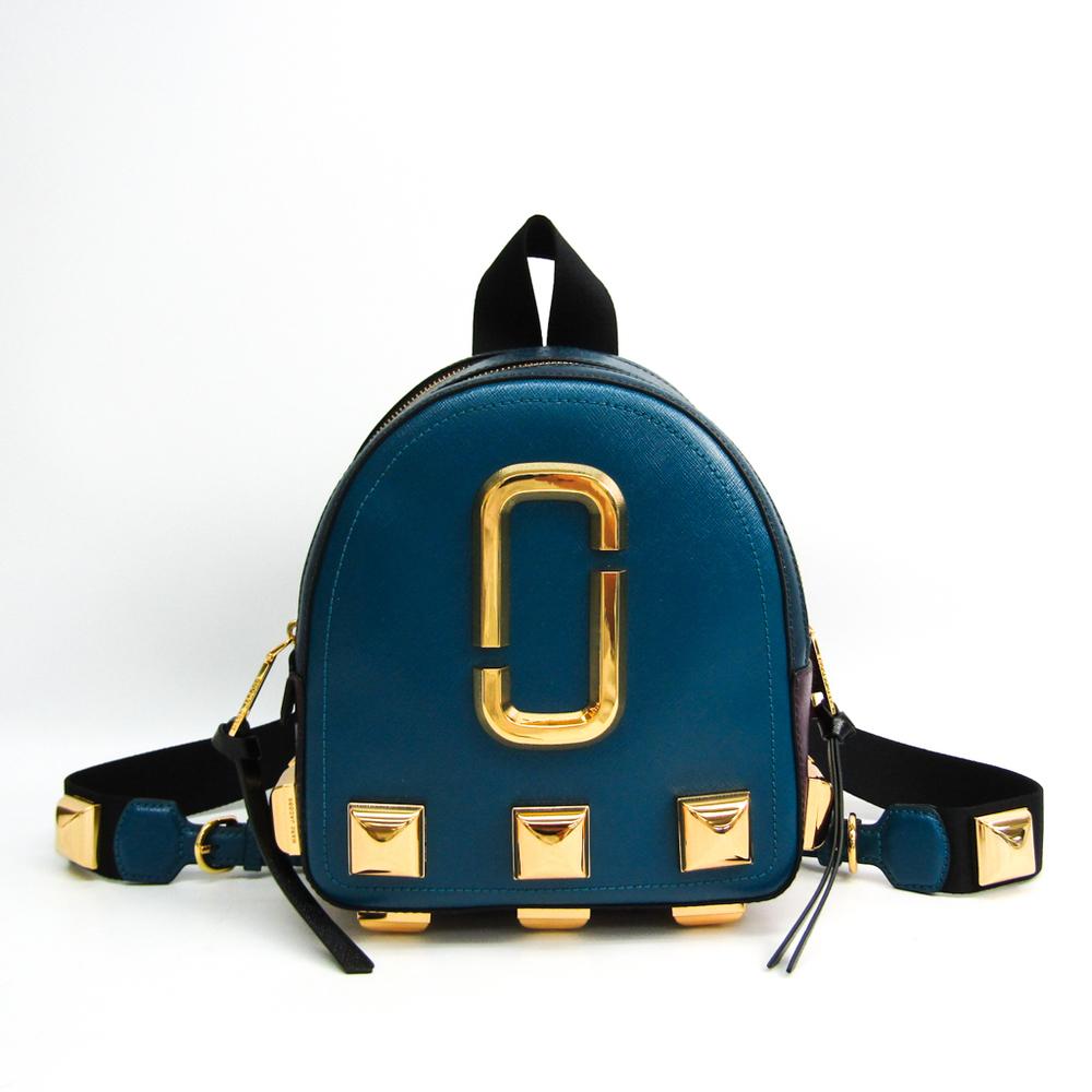 Marc Jacobs Pack Shot Backpack Cross Grain Leather M0014314 Women's Leather Backpack Black,Blue Green,Purple
