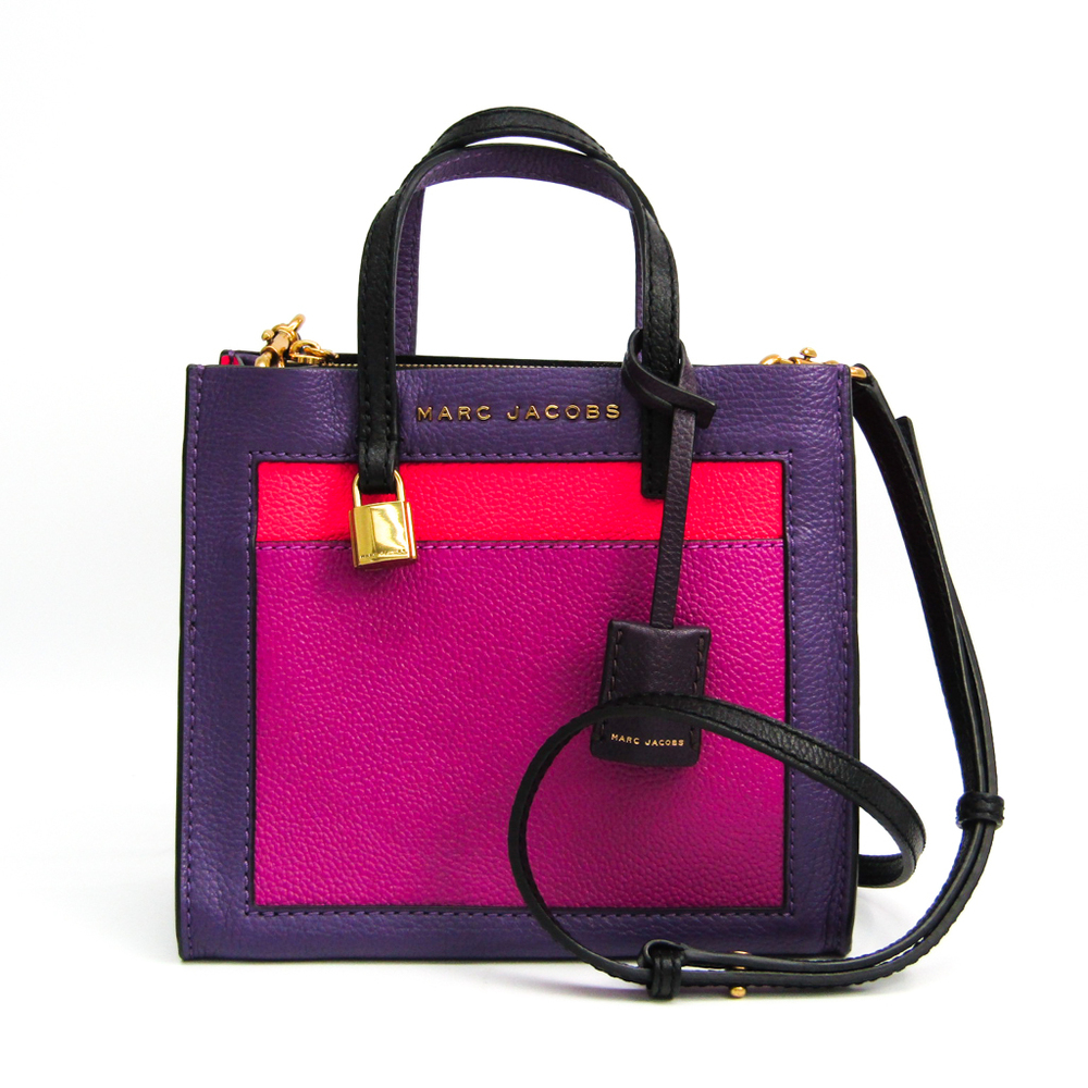 Marc By Marc Jacobs THE GRIND COLORBLOCK M0013663 578 Women's Leather Handbag,Shoulder Bag Black,Pink,Purple