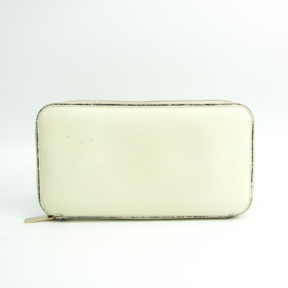 ヴァレクストラ(Valextra) V9L06 ユニセックス  カーフスキン 長財布(二つ折り) アイボリー