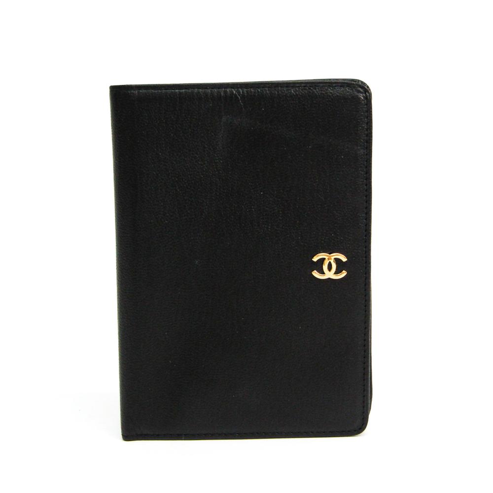 シャネル(Chanel) レディース レザー 財布(二つ折り) ブラック