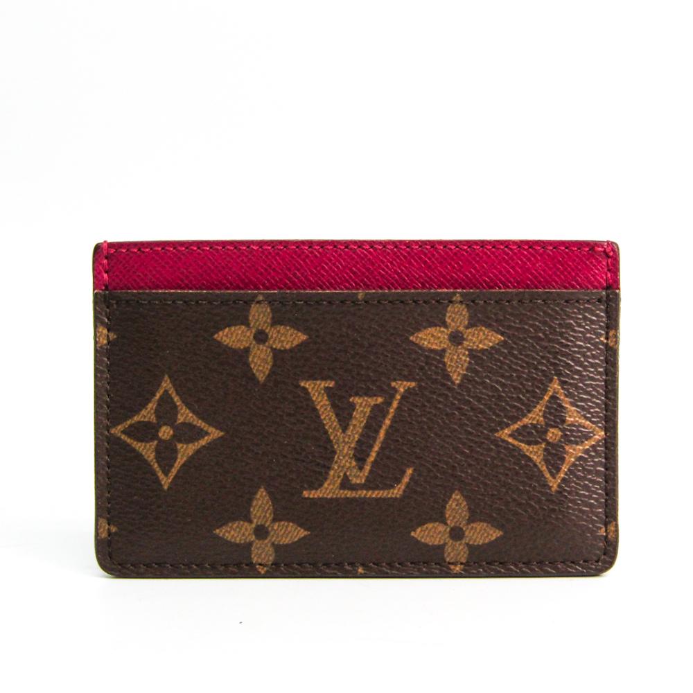 ルイ・ヴィトン(Louis Vuitton) モノグラム ポルト カルト・サーンプル M60703 モノグラム カードケース フューシャ,モノグラム