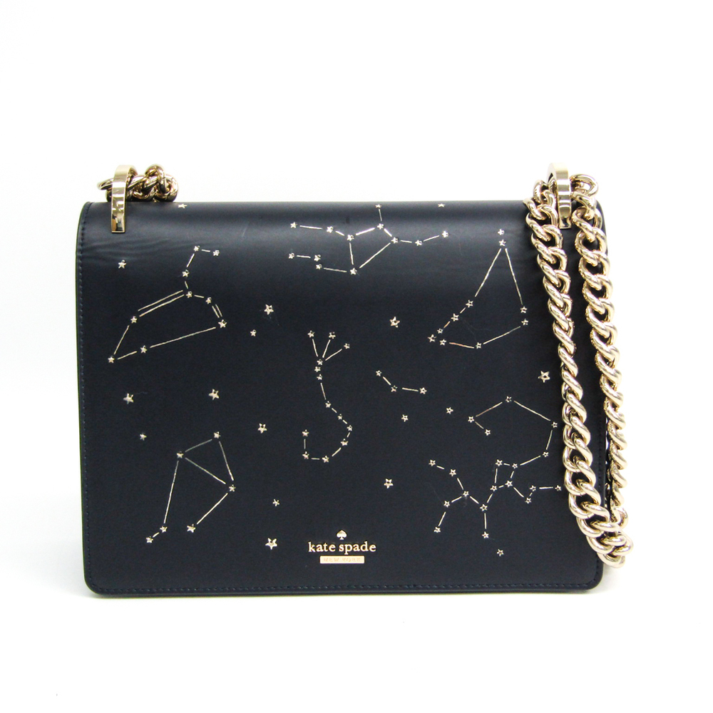 Kate Spade LED Star Bright Constellation Mercy Bag Christmas Limited Edition Women's Leather Shoulder Bag Navy