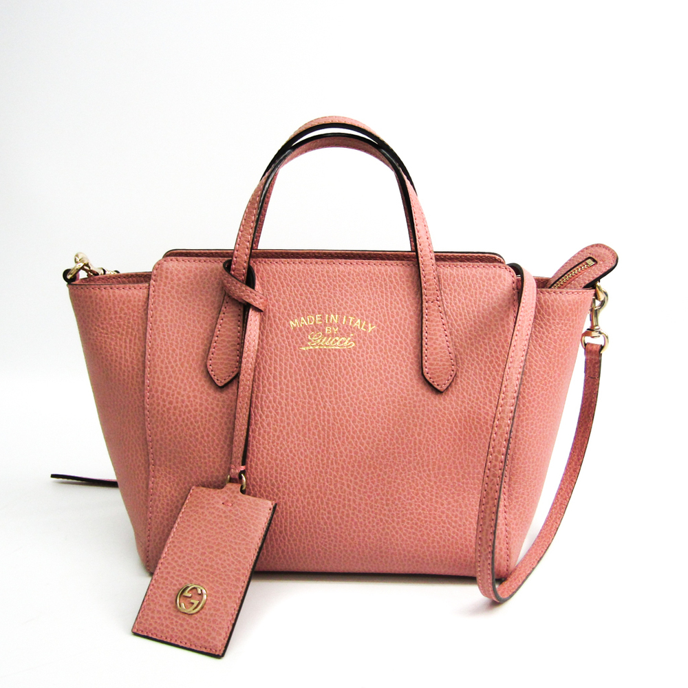Gucci Gucci Swing 368827 Women's Leather Handbag,Shoulder Bag Pink
