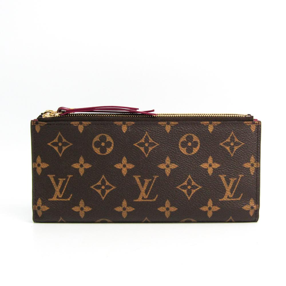 Louis Vuitton Monogram Portofeuil Adel M61269 Women's Monogram Long Wallet (bi-fold) Fuchsia