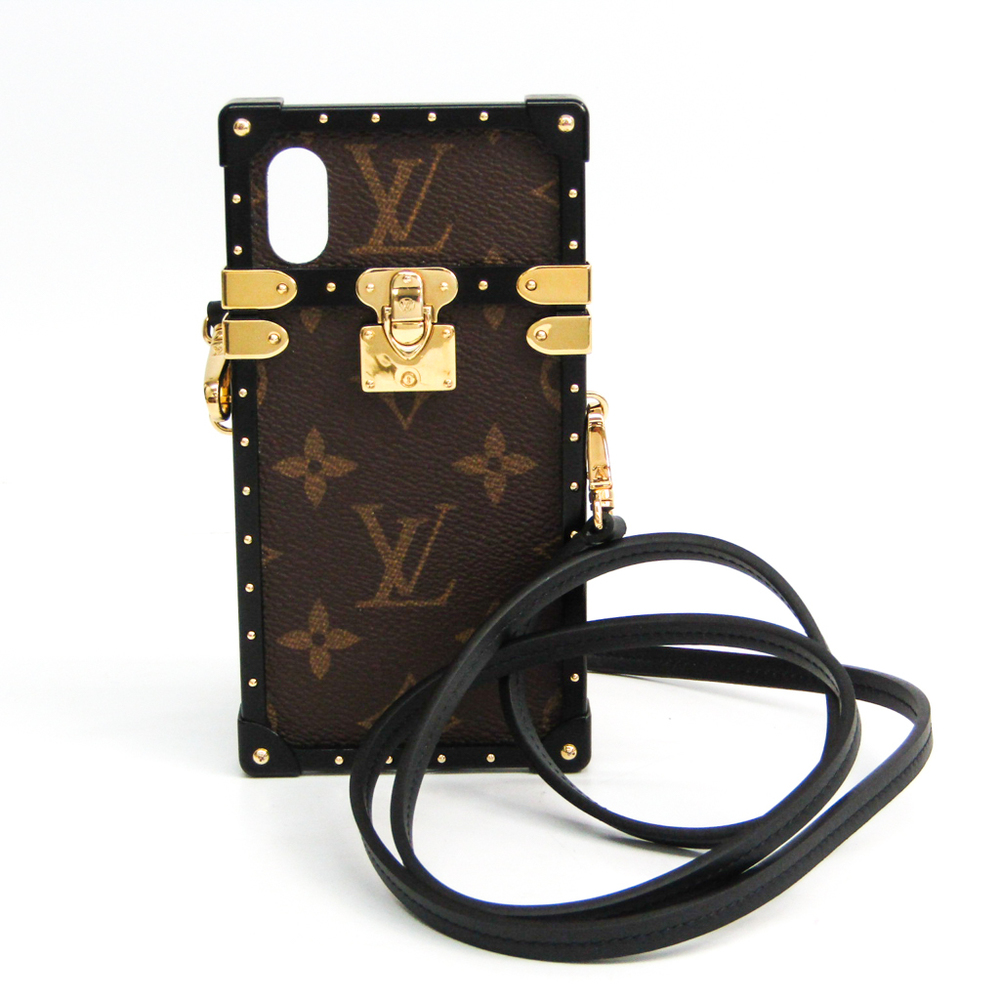 Louis Vuitton Monogram Monogram Phone Case For IPhone X Monogram,Noir Eye trunk IPHONE X eyephone case M62618