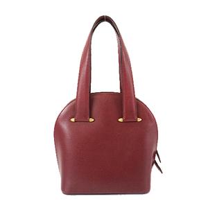 Auth Cartier Must Women's Leather Handbag,Tote Bag Bordeaux