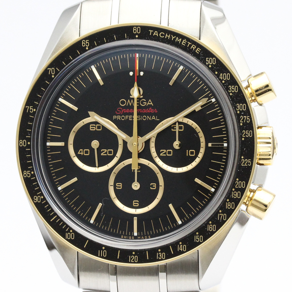 Omega Speedmaster Mechanical Stainless Steel,Yellow Gold (18K) Men's Sports Watch 522.20.42.30.01.001