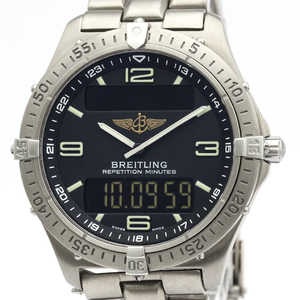 【BREITLING】ブライトリング エアロスペース チタン クォーツ メンズ 時計 E65062
