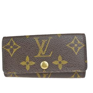 Louis Vuitton Monogram Multicule 4 M62631 Leather PVC Key Case Brown