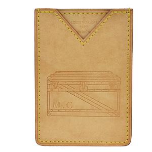 Louis Vuitton Nomad Leather Card Case Natural