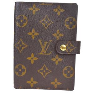 Louis Vuitton Monogram Planner Cover Brown Agenda PM R20005