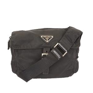 プラダ ショルダーバッグ テスート ブラック シルバー金具