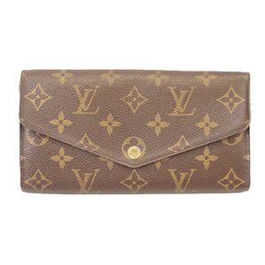 Auth Louis Vuitton Monogram M60531 Women's Long Wallet (bi-fold) Brown