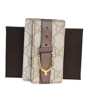 Gucci GG Pattern PVC Leather Key Case Beige