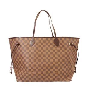 Auth Louis Vuitton Damier N51106 Women's Handbag,Shoulder Bag,Tote Bag Ebene