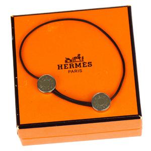 エルメス(Hermes) セリエ キャンバス チャームブレスレット ブラウン