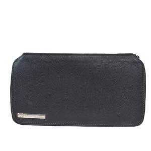 カルティエ(Cartier) サントス レザー 長財布(二つ折り) ブラック