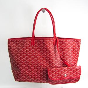 Goyard Saint Louis PM Women's Leather,Coated Canvas Tote Bag Red Color
