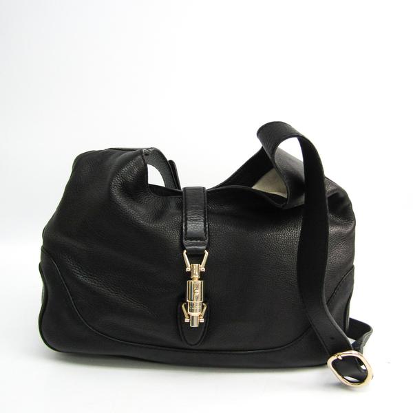 Gucci New Jackie 277520 Women's Leather Shoulder Bag Black