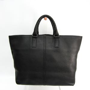 Bottega Veneta Handle Intrechart 169610 Unisex Leather Tote Bag Black,Navy